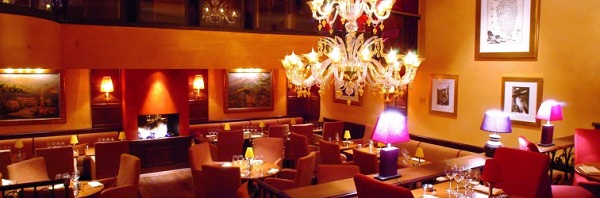 A lit-up Restaurant in Paris