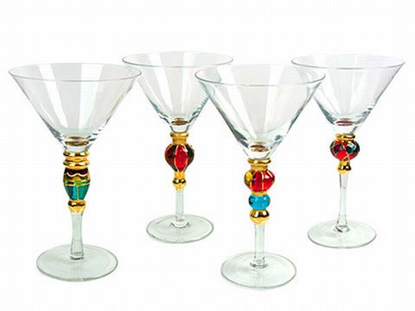 Artland Splendor Set/4 Assorted Martini
