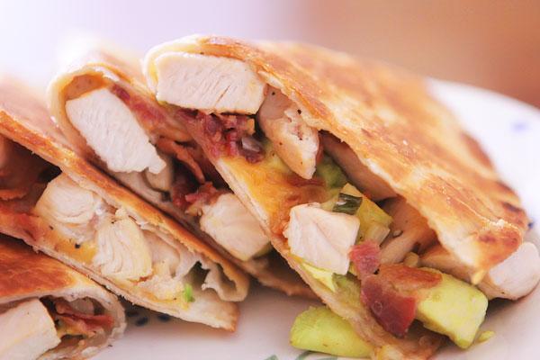 Chicken, Bacon & Avocado Quesadillas