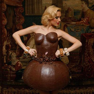 German chocolate bubble dress