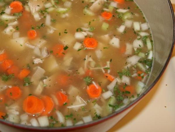 Kosher chicken turkey soup