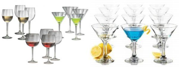 Libbey 12 piece martini glass set