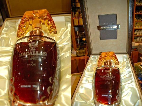 Macallan 55 years old Lalique Crystal Decanter