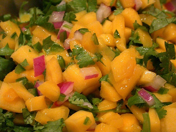 Kiwi, Mango, And Cucumber Salsa With Lime And Jalapeno Recipe ...