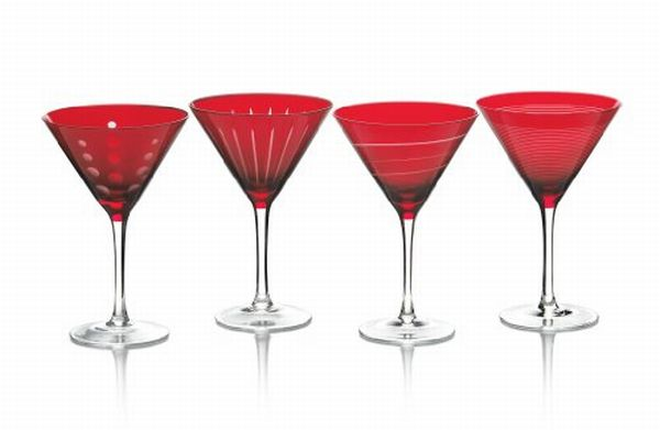 Mikasa Cheers 4 piece martini Glasses