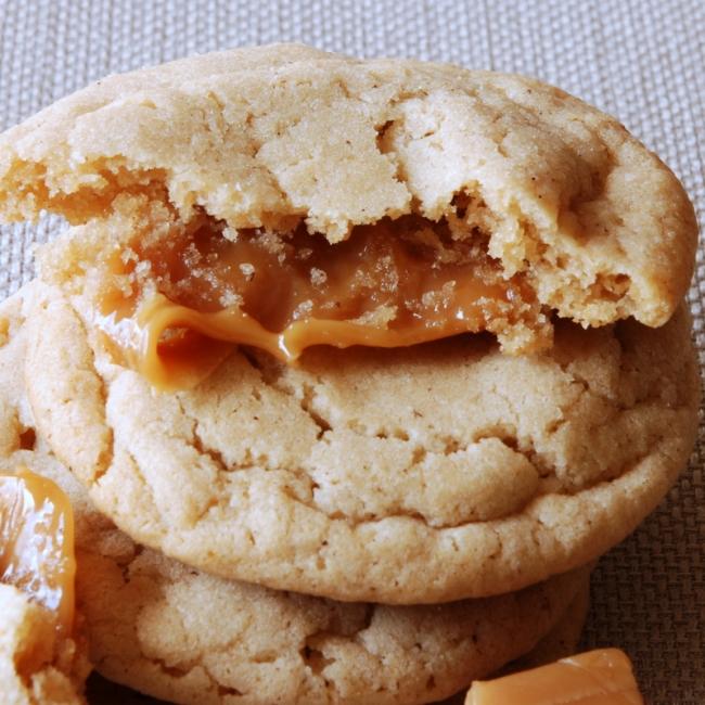 Nutella and sea salt stuffed sugar cookies