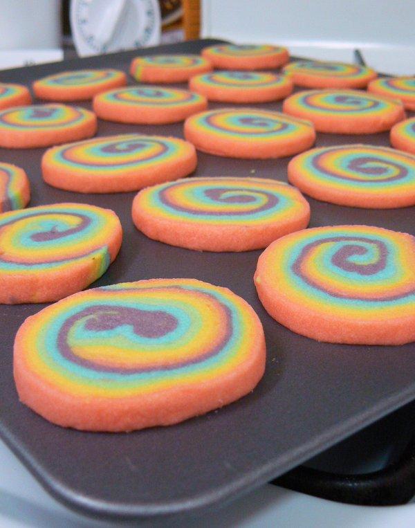 Rainbow pinwheel cookies for color rich meal - Always Foodie