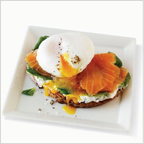 Salmon and egg sandwich