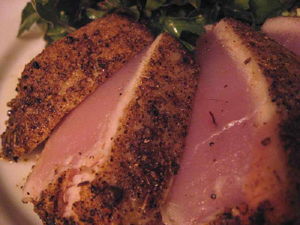 ... with wasabi butter sauce seared ahi tuna salad with mizkan ponzu