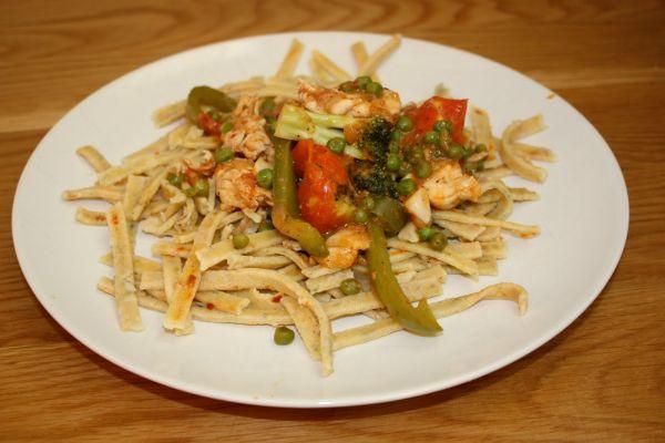 Southwestern chili pasta