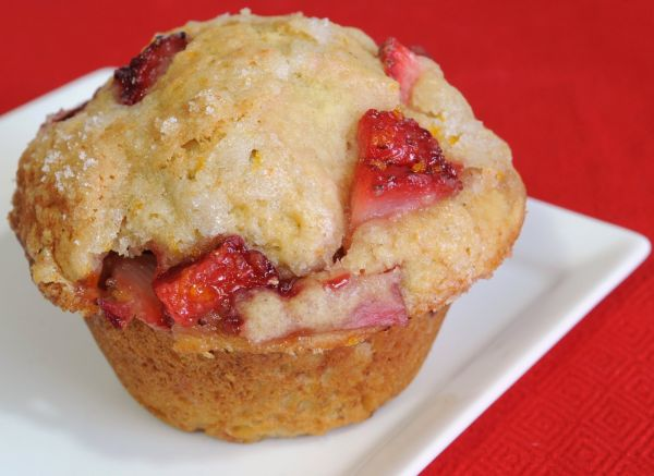 Strawberry and orange muffin