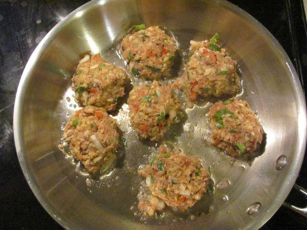 Thai Crab Cakes with Wasabi Vinaigrette