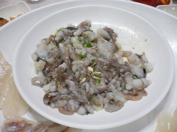 The live Octopus dish