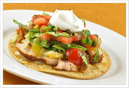 Tostadas Mexican appetizers