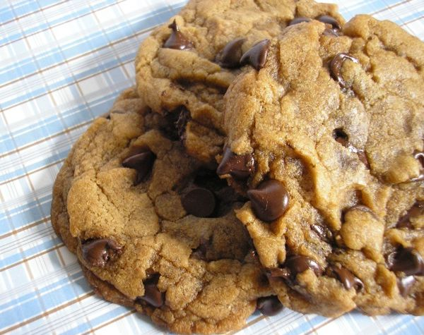 Vegan choco chip cookies