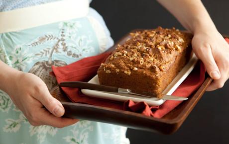 Whole wheat honey walnut pumpkin bread