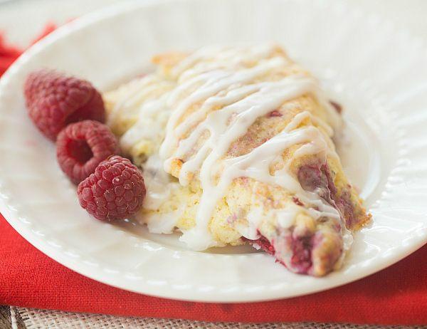 Cream Scones with Lemon and Raspberry Recipe