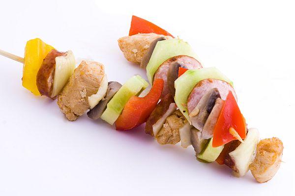 The skewered kebab