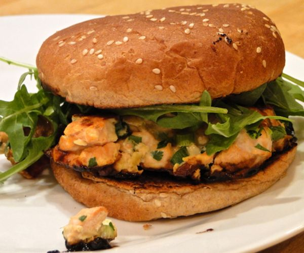 Salmon and ginger burger