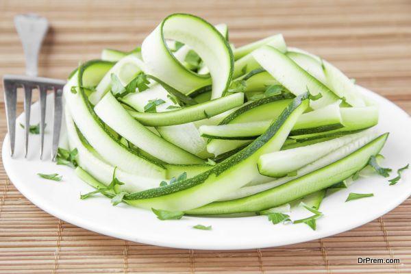 spiraling zucchinis