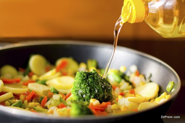 vegetables and oil