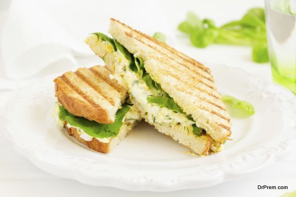 Egg Salad Sandwich. American kitchen.