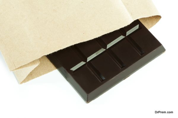 Chocolate bar in packaging