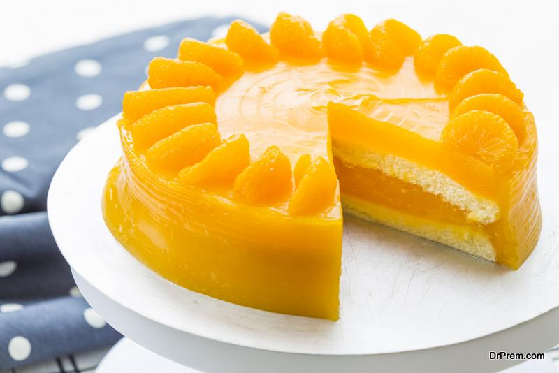 Passion Fruit, Guava and Orange cake
