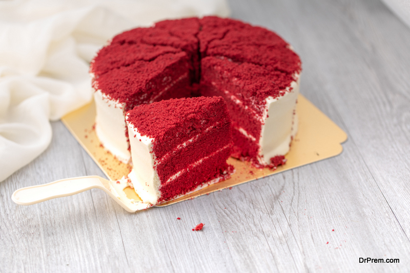 RedGreenBlue Velvet cake