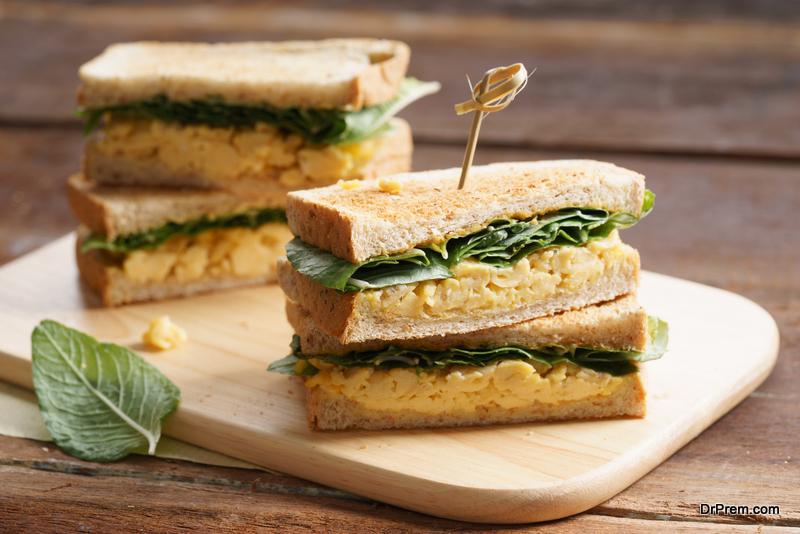 Vegan teatime sandwich