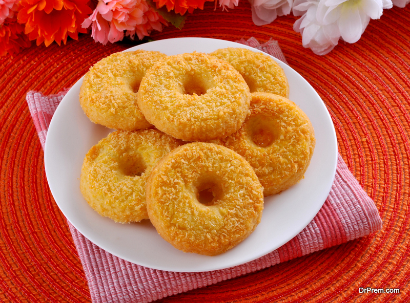 sweet potato spicy doughnuts