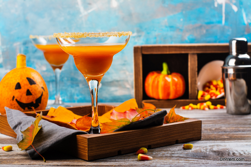 Pumpkins with Drinks
